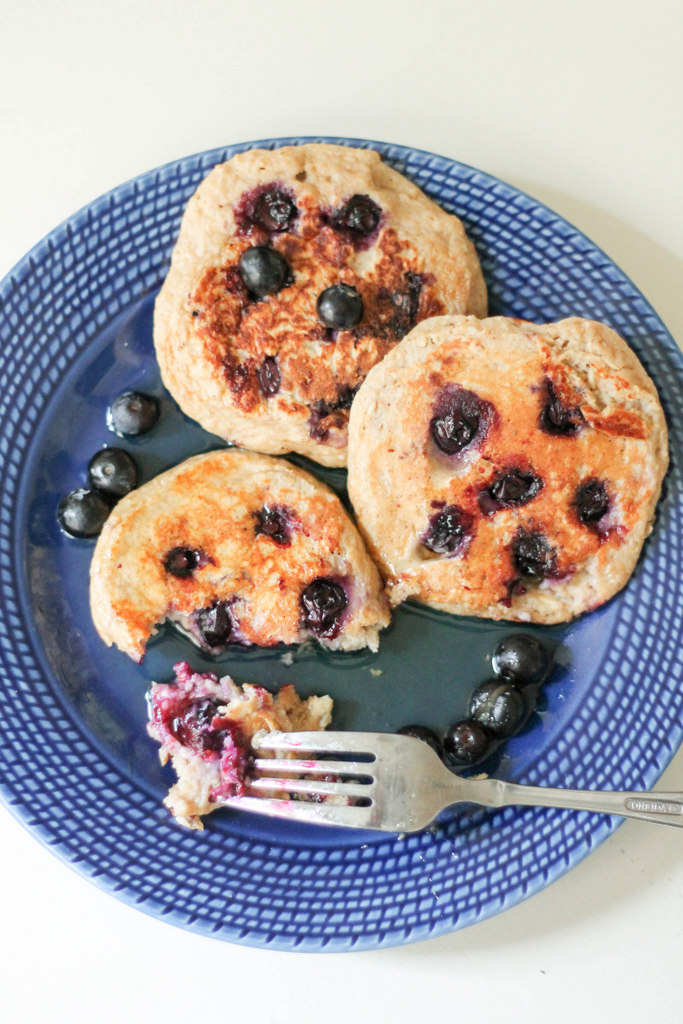 High Protein Gluten Free Pancakes - click for more healthy high protein dessert ideas