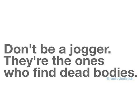Why we are runners, not joggers