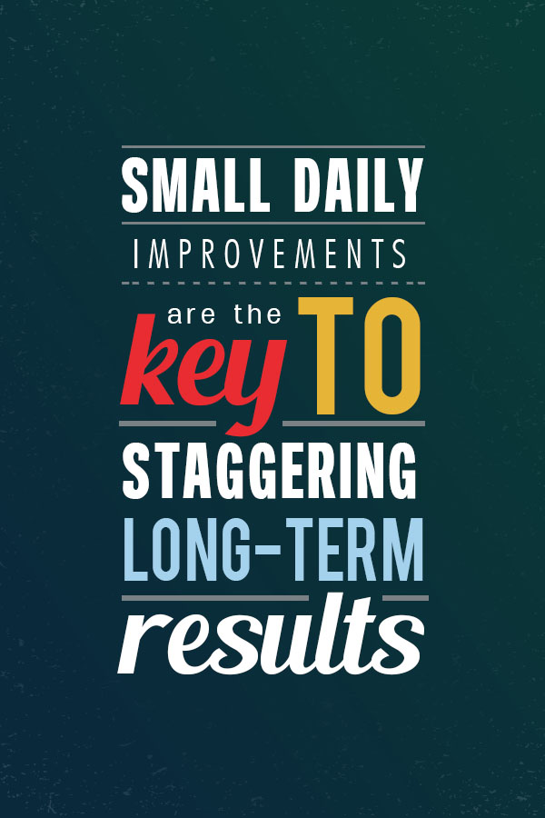 Small daily improvements are the key to success -- learn how to implement this