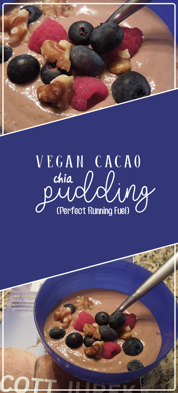 Vegan chocolate chia pudding - a dairy free, high protein dessert