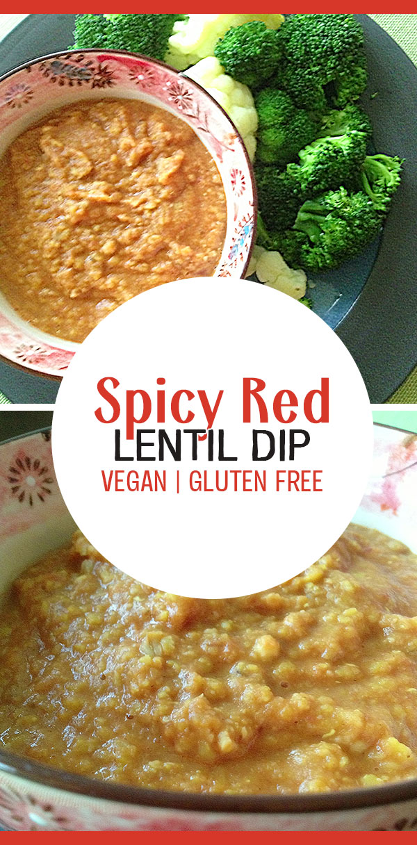 Spicy Red Lentil Dip - a hummus alternative, dairy free, gluten free
