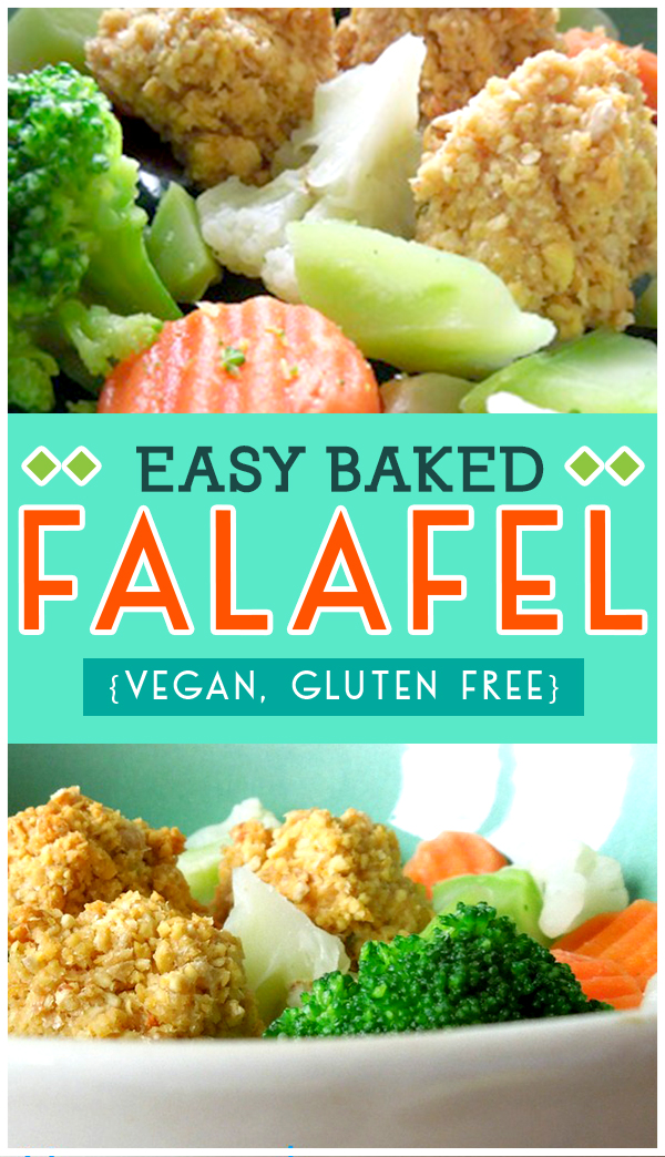 Easy Baked Falafel Recipe - gluten free, vegan and perfect protein option!