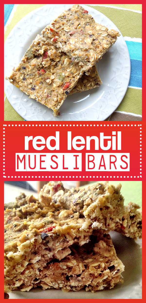 Red Lentil Bars - A healthy gluten free breakfast bar