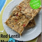 Lentil Muesli Bars – Quick, No Bake, Eat Clean Dessert