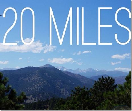 How far is 20 miles in minutes