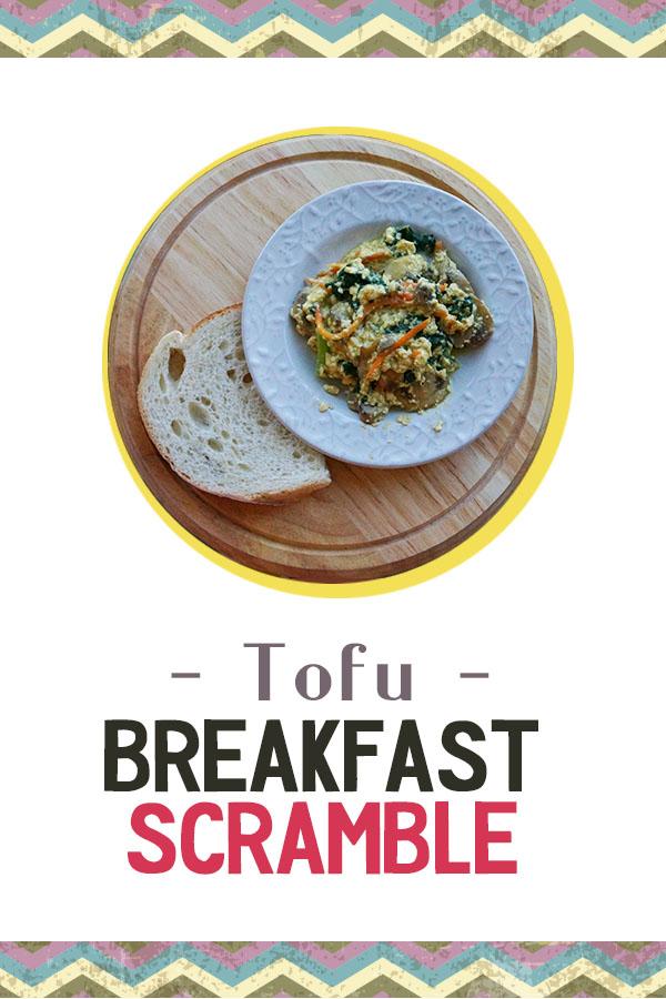 Tofu Breakfast Scramble - High protein breakfast packed with veggies, vegan and gluten free