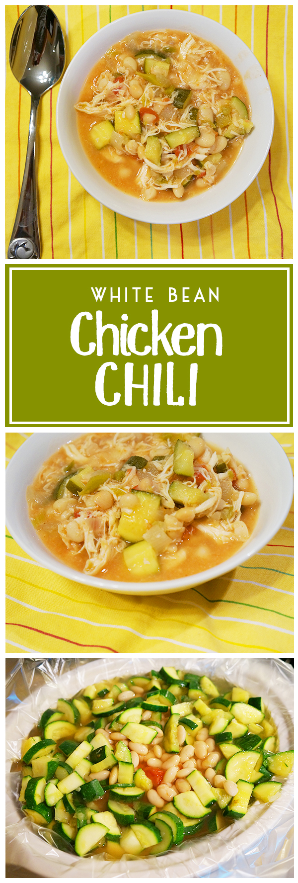 Healthy White Bean Chicken Chili - perfect healthy slow cooker dinner recipe