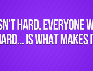 It doesn't get easier, but it isn't that hard