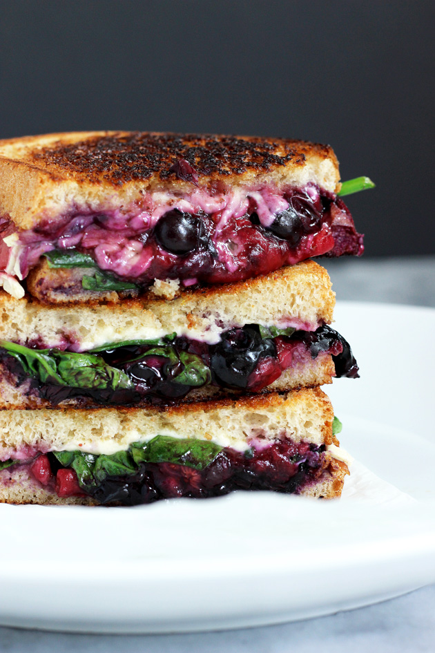 Balsamic Berry Vegan Grilled Cheese - plus more dairy free sandwich ideas