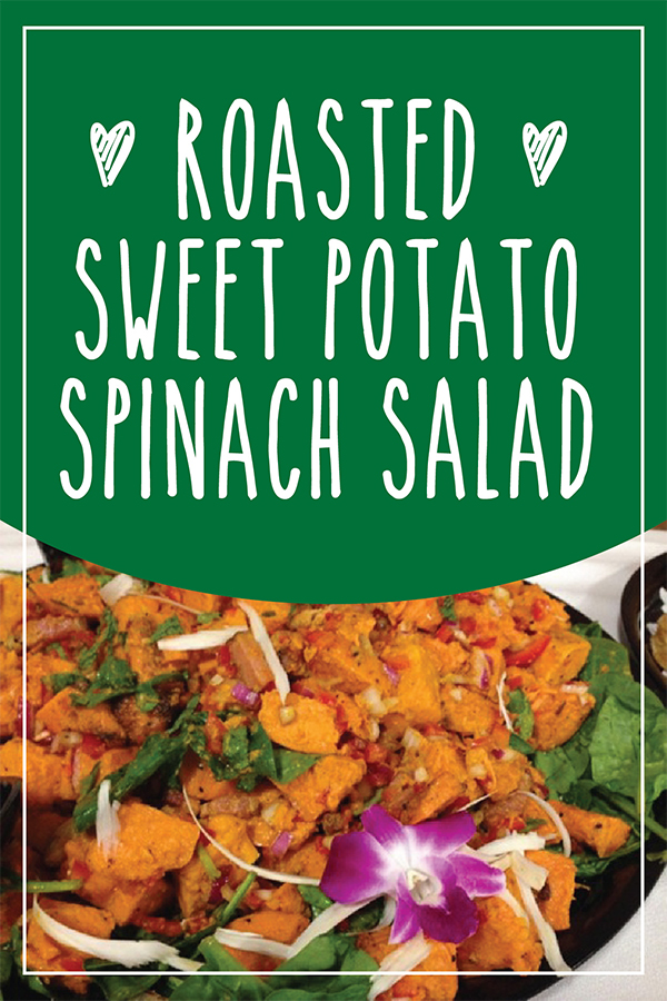 Roasted Sweet Potato and Spinach Salad  recipe - a great recovery meal for runners