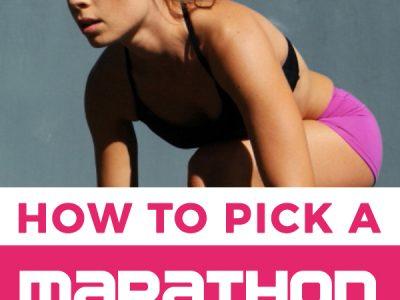 how to pick a marathon training program