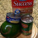 Tuna Avocado Brown Rice Bowl: Quick high protein, dairy free, gluten free dinner