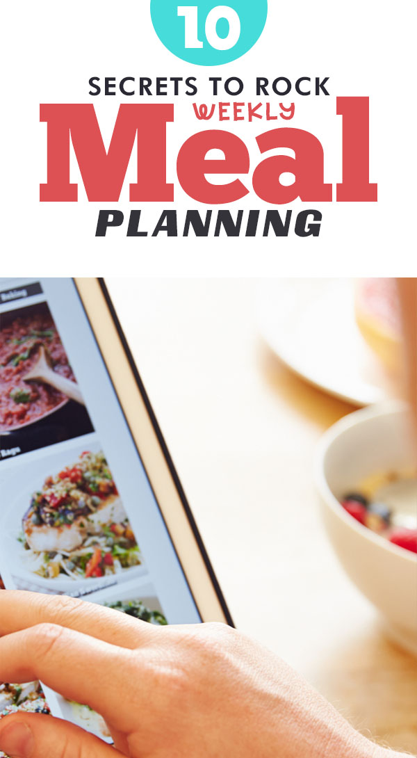 10 secrets to be a rock star weekly meal planner for weight loss