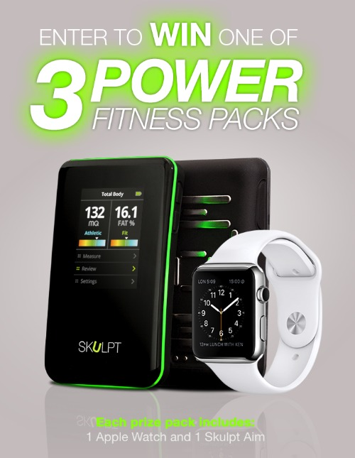 Win a Apple Watch and Skulpt body fat measurement tool