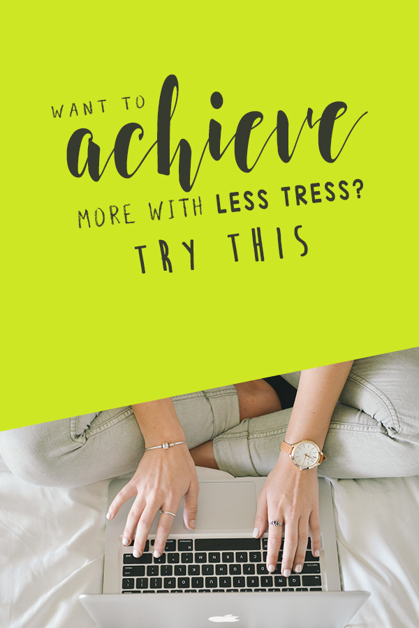 How to Achieve More with Less Stress - click to learn about decision fatigue and what you can do