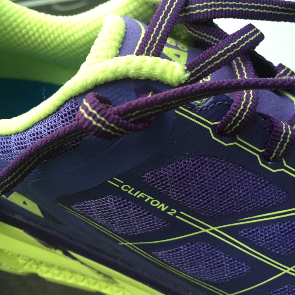 Shoe lacing to prevent heel from slipping