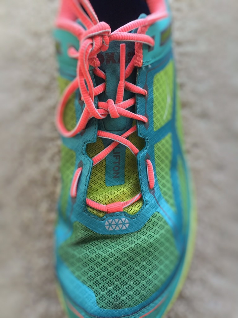 Shoelacing to help relieve foot pain - read more on running with foot pain