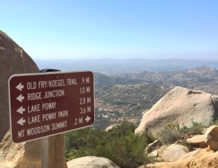 Mount Woodson Trail Signs