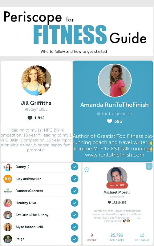 Who to follow on Periscope for Fitness and how to get started on Periscope...plus why it might help your motivation