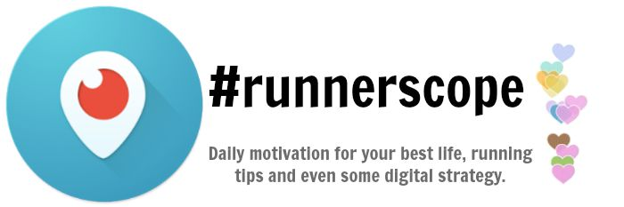 Join RunnerScope daily on Periscope