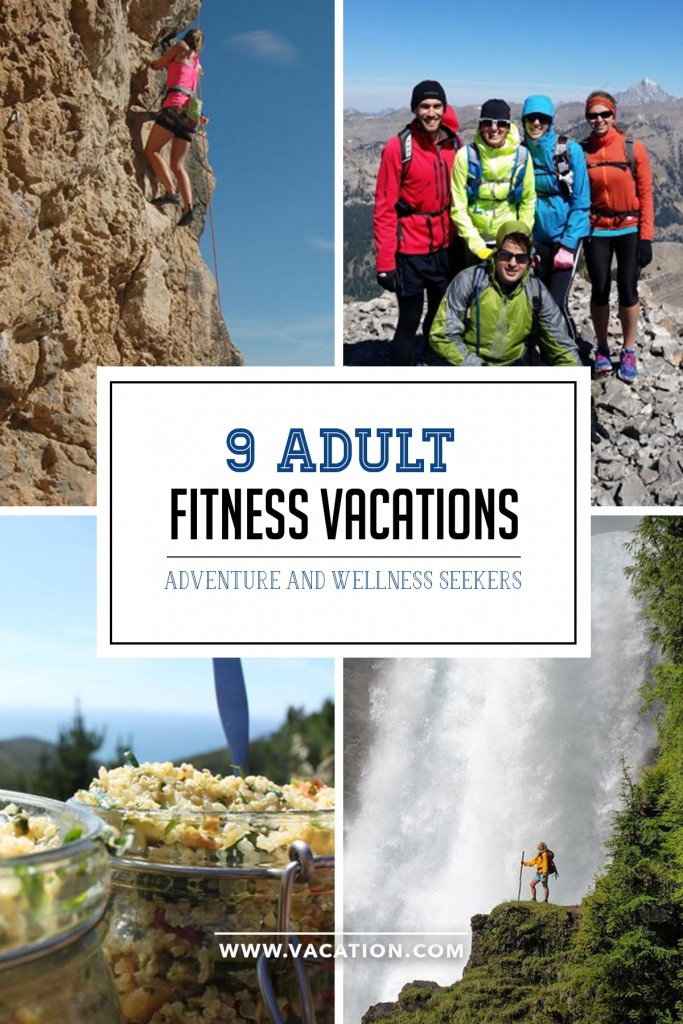 9 Fitness Vacations for the active adult - from skiing to climbing to running to yoga!