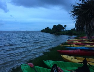 night kayaking in Florida