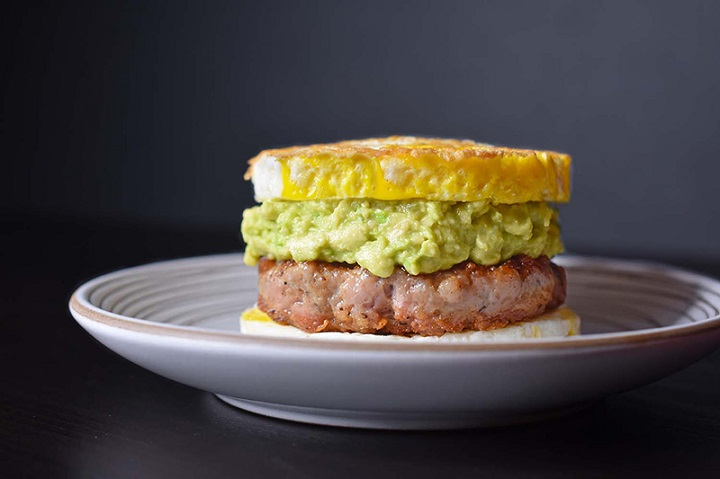 high protein breakfast sandwich
