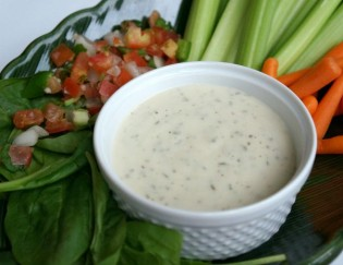 A vegan ranch dip you can make at home
