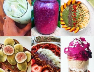 Dragon Fruit Green Smoothie And Autumn Vegetable Smoothie