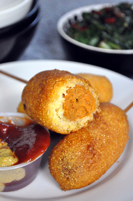 19 Meatless Monday Appetizers including -- Vegan Corn Dogs for appetizer from Hell Yeah It's Vegan