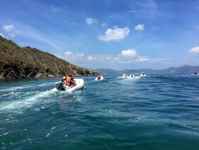 Jet boating in Tortola