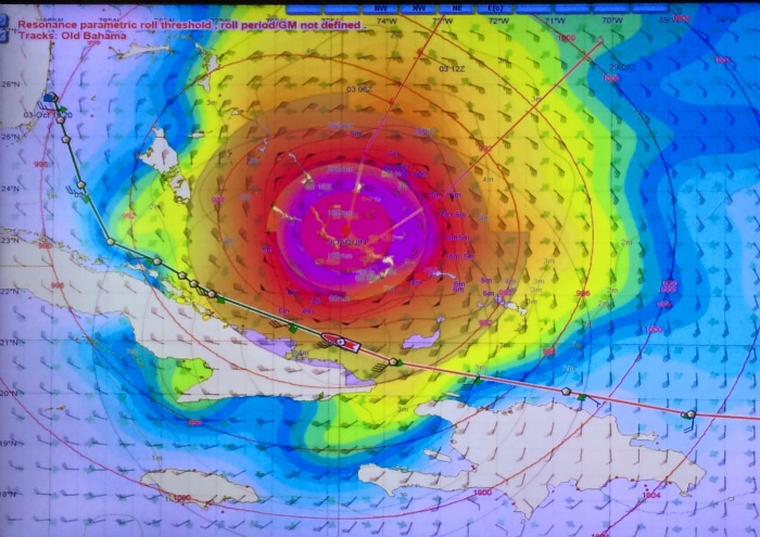Hurricane Joaquin changing our course direction