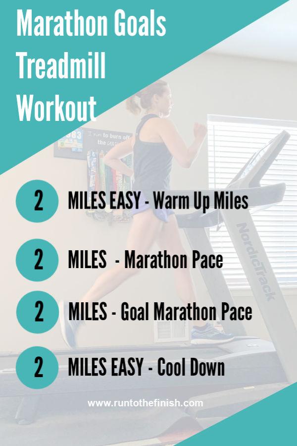 Marathon treadmill workout