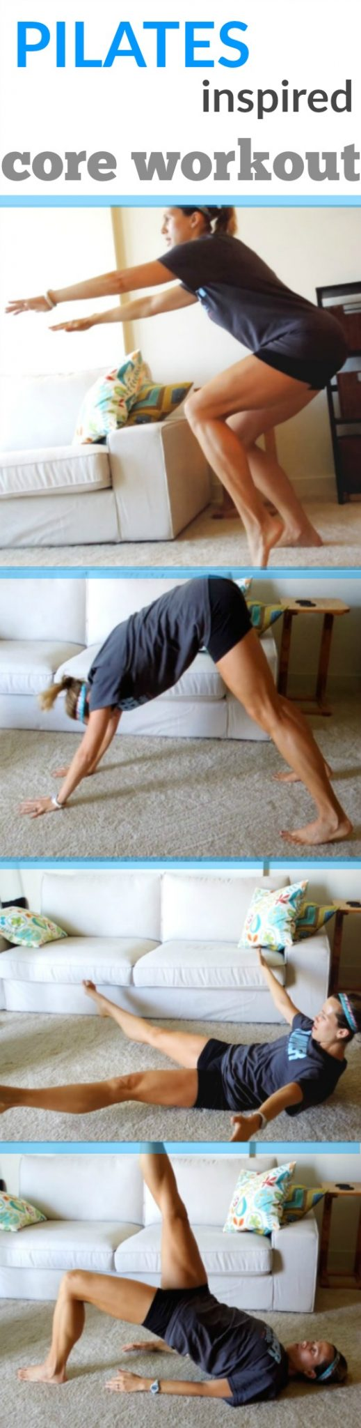 Strengthen your Core with this Pilates inspired ab workout - it will make you a better runner!