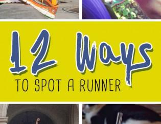 12 Ways to Spot a Runner