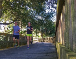 Running on the trails near Flagler Beach