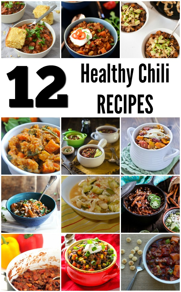 12 Healthy Chili Recipes - Toss in the crockpot and forget it! These healthy meals are fast and easy