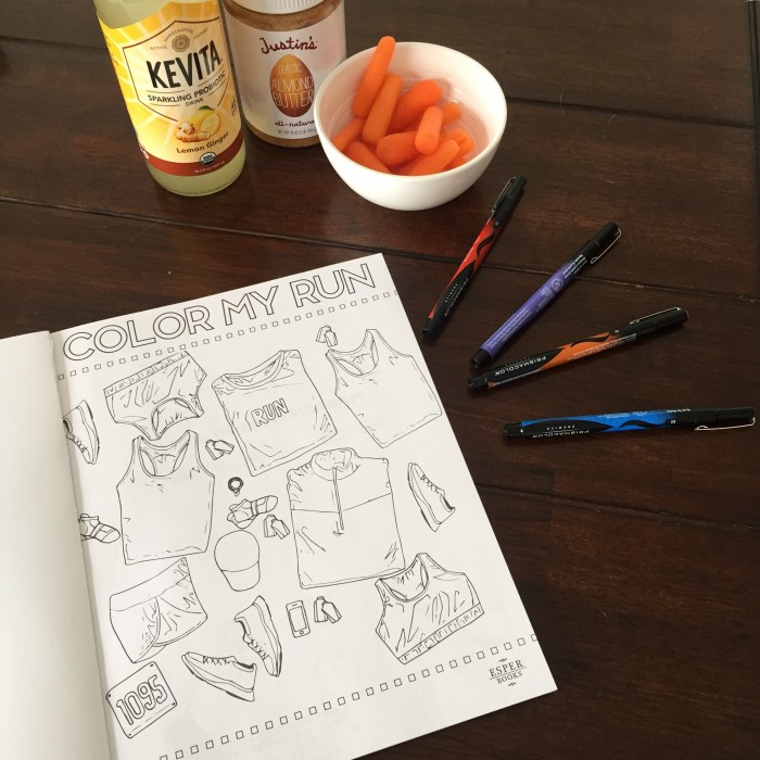 Adult coloring book for runners