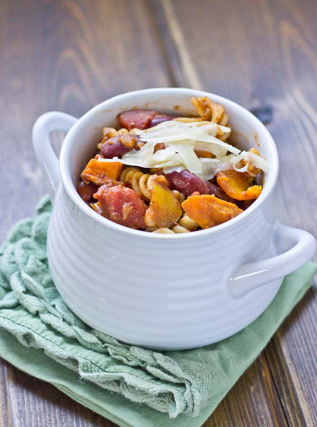 Roasted Butternut Squash Chili Mac from Love and Zest