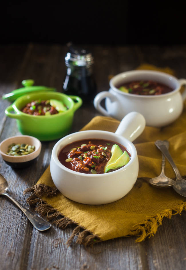 Smoky and Sweet Turkey Chili from Food Faith Fitness