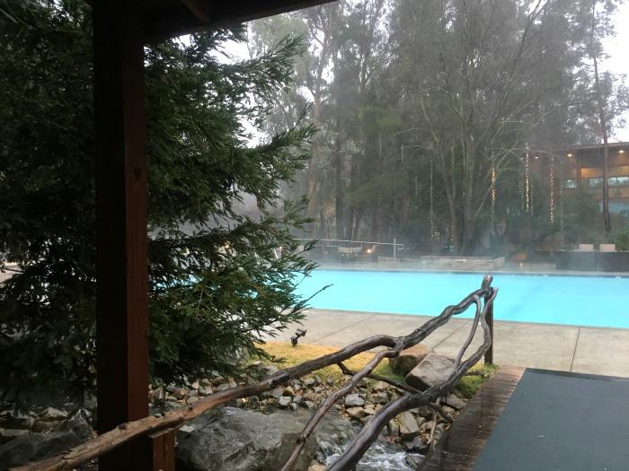 Outdoor pool at the Wellfit Malibu Resort