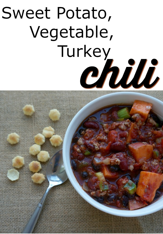 Sweet Potato Veggie Turkey Chili - Easy crockpot meal that's packed with nutrition