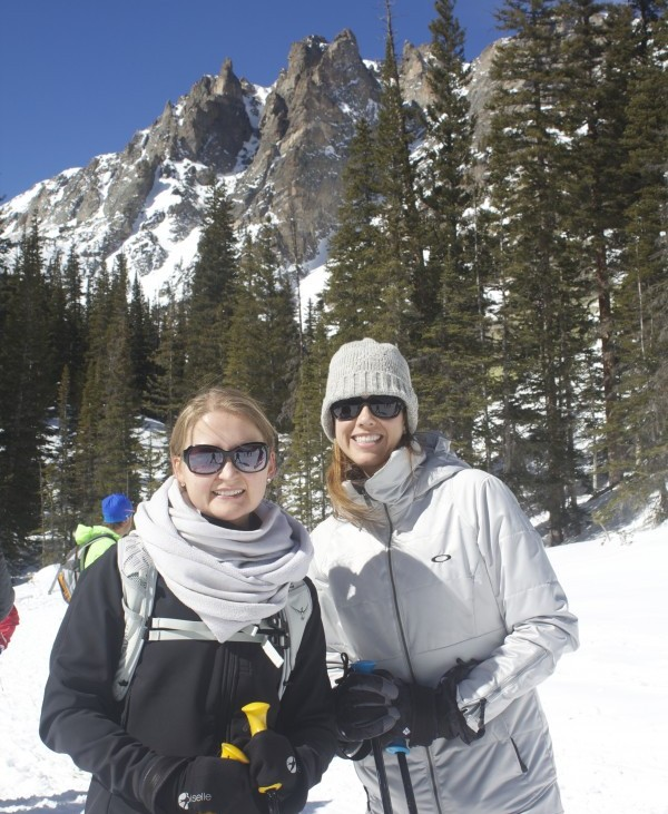 Snowshoeing with friends in Estess Park
