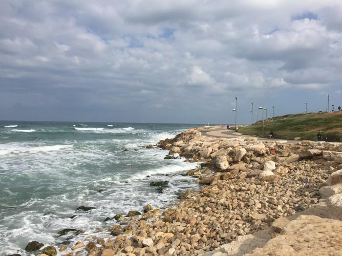 Running along the water in Tel Aviv