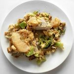 One Dish Healthy Apple Stuffing Pork Chop Dinner