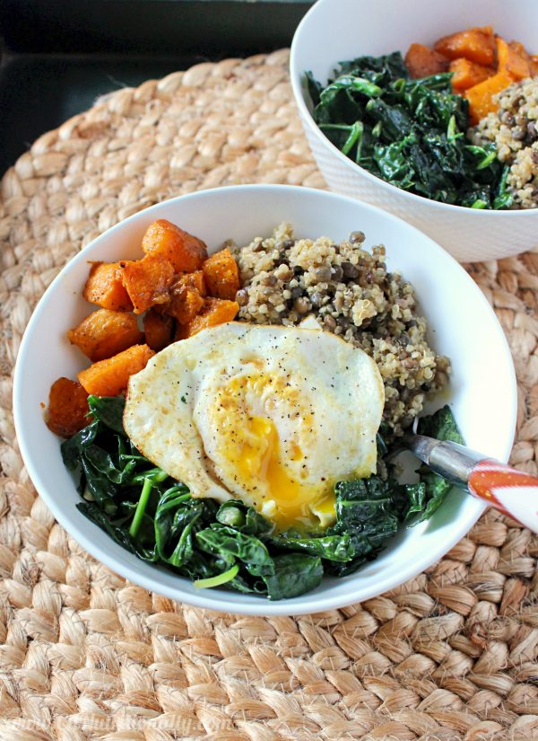 High protein breakfast power bowl idea - gluten free and vegan options for meals