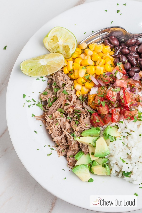 Healthy Mexican Power Bowl Meal - click for more high protein salad ideas
