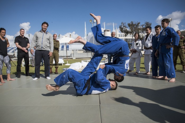 Learning Judo at Wingate Institute