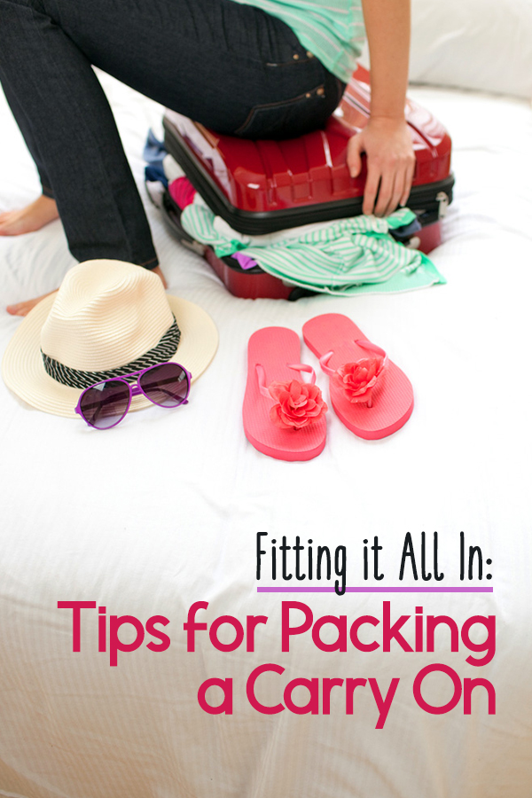 How to pack your carry on most efficiently to fit in the most!