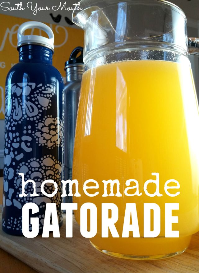 Homemade Gatorade - how to make cleaner sports drinks at home!
